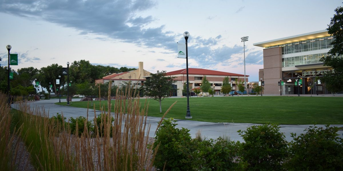 Adams State University campus green