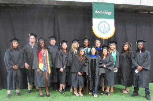 Sociology Students at Graduation