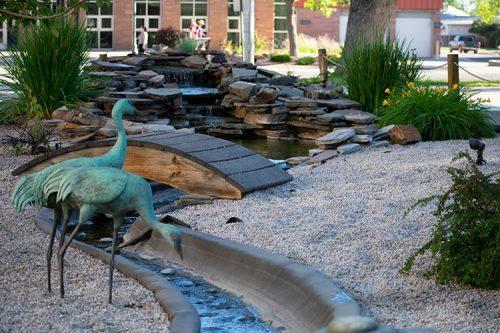 Japanese American Memorial Garden cranes