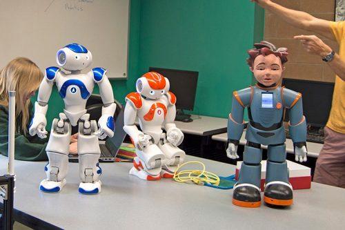 robots from the robotics club at ASU
