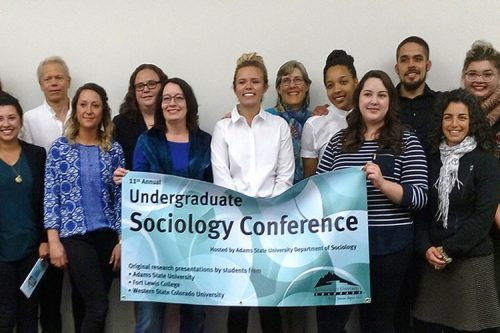students at a sociology conference