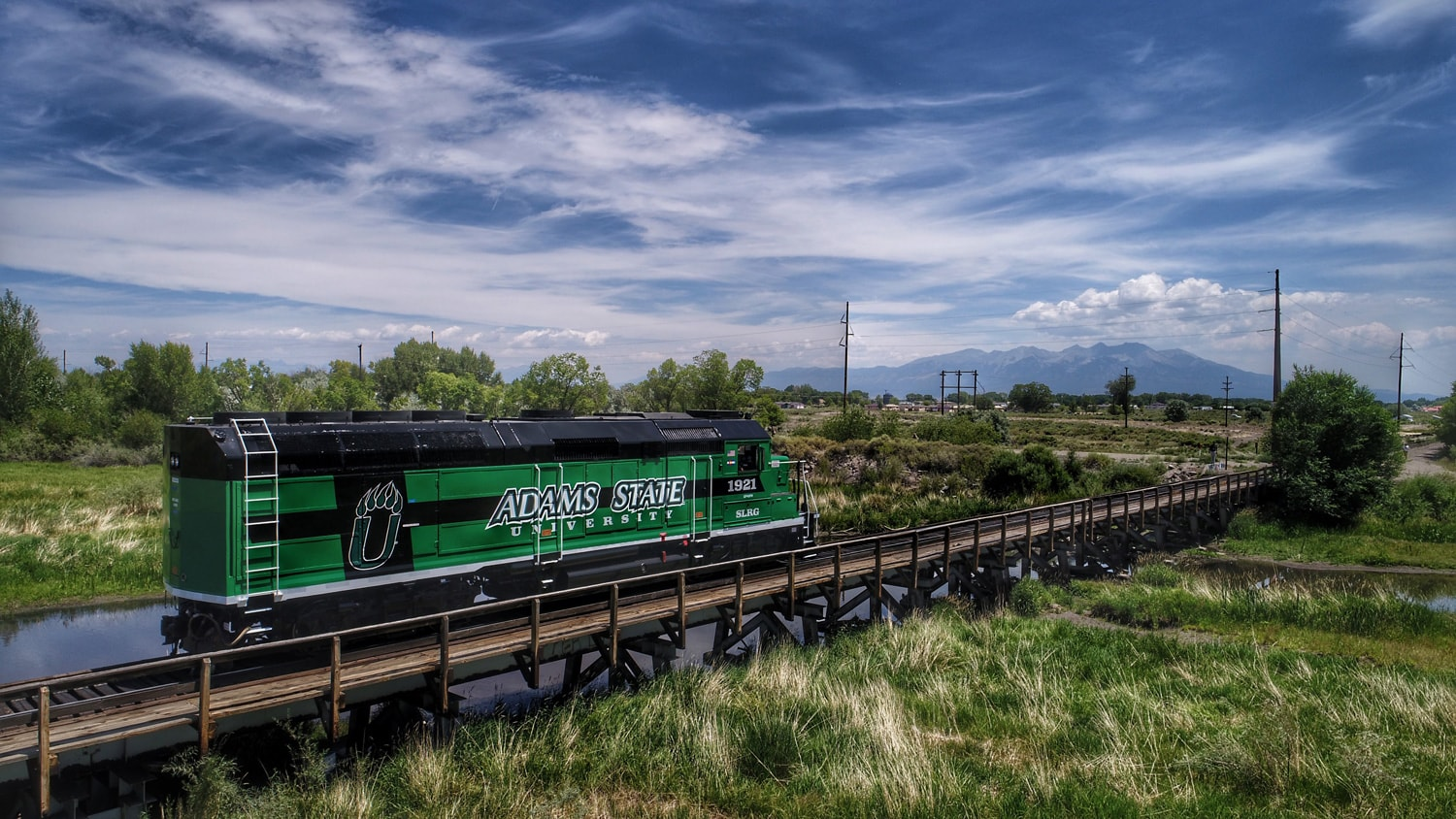 Adams State University locomotive