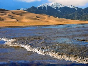Surge flow at Great Sand Dunes National Park