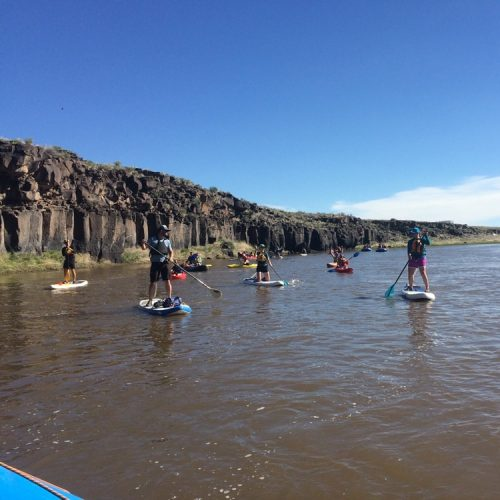 Students on the Rio Grande Paddle Boarding
