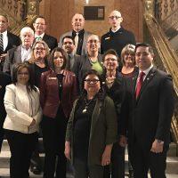 Adams State Board of Trustees, President Cheryl Lovell, Adams State staff, and Colorado Representative Donald Valdez