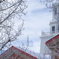 richardson hall in winter