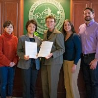 President Cheryl D. Lovell and faculty and staff from Gunma and Adams State Universities