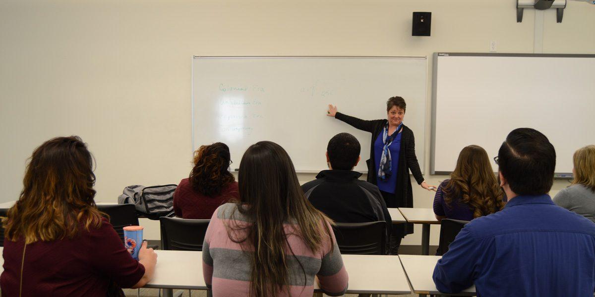 Dr. Freeman teaching a class for HEAL