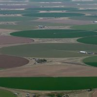 aerial view of the San Luis Valley's irrigated agriculture