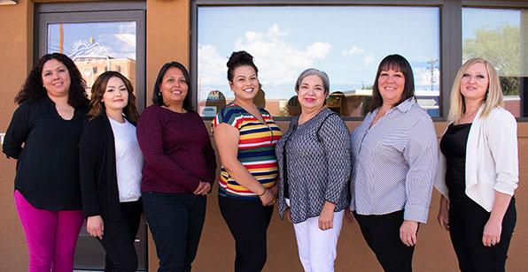 Theresa Ortega, Stephanie Martinez, Michelle Resendiz, Denayea Martinez, Patricia Lara, Shelly Martinez, and Jennifer Hanna
