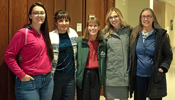 Alexis Colwell, Danielle Smith, Dr. Tracey Robinson, Dr. Heather Leach, Peggy Johnson