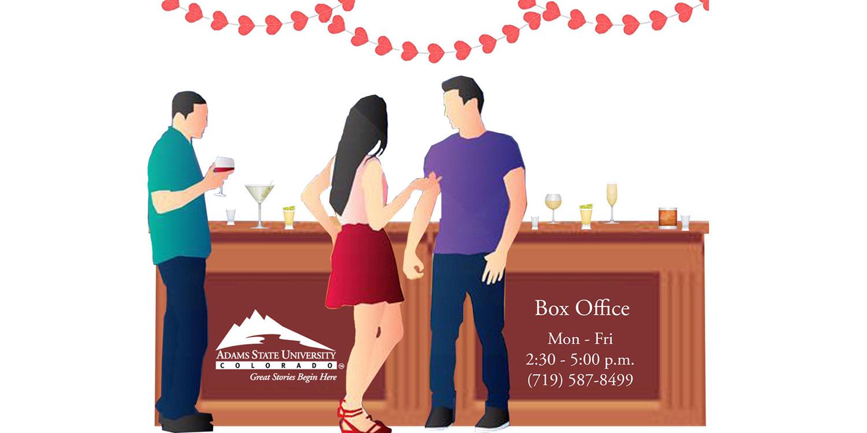 Adams State University Theatre Box office Mon-Fri, 2:30 - 5 pm, 719-587-8499