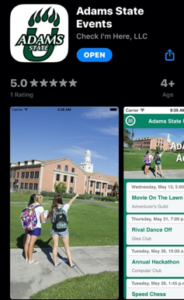Adams State Events App