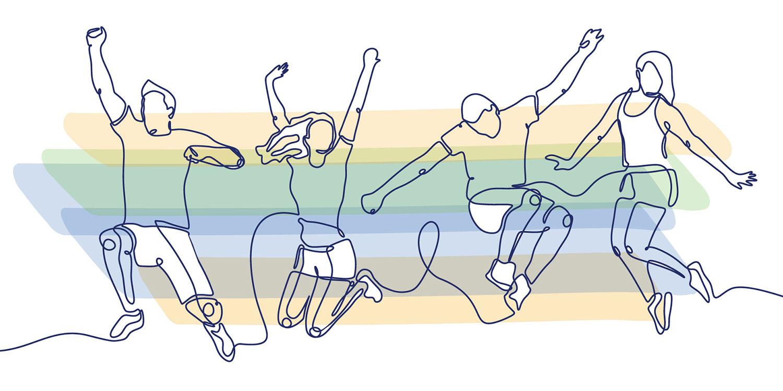 illustration people dancing