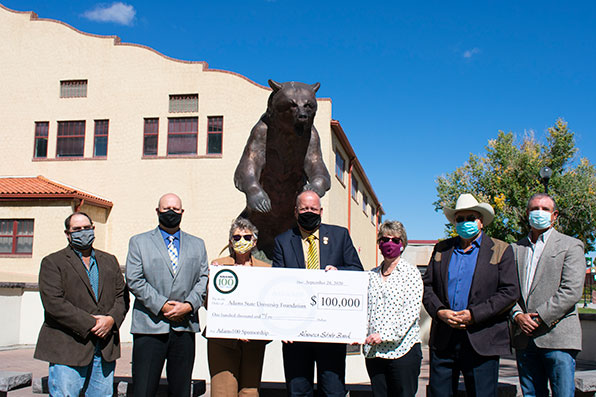 Alamosa State Bank Board of Directors with ASU President Cheryl D Lovell
