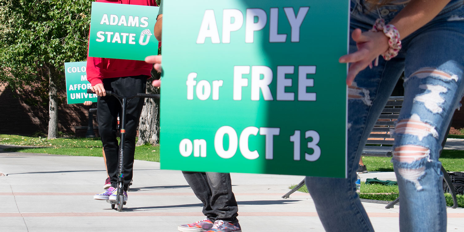 Skaters and scooters promote free application day