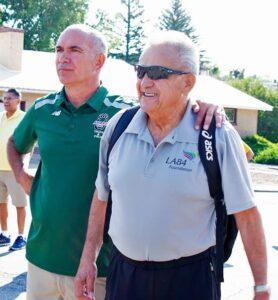 Coaches Damon Martin and Joe I. Vigil