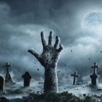 hand raised from grave